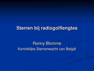 Sterren bij radiogolflengtes