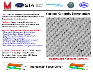 Goal: Fabricate and perform electrical tests on various interconnected networks of nanotubes in two dimension and three