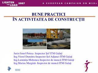 BUNE PRACTICI   N ACTIVITATEA DE CONSTRUCTII