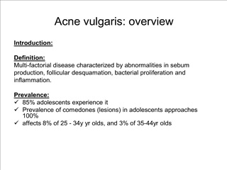 acne vulgaris: overview