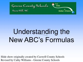 Understanding the New ABC s Formulas