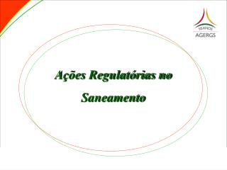 A  es Regulat rias no Saneamento