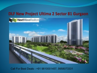 DLF Ultima 2 New Project Sector 81 Gurgaon