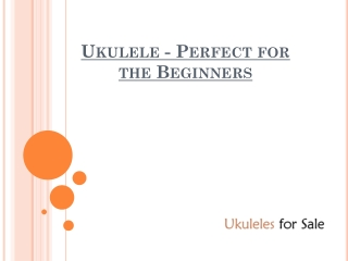 Ukulele - Perfect For The Beginners