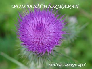 MOTS DOUX POUR MAMAN