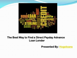 Best Way to Find a Direct Payday Advance Loan Lender