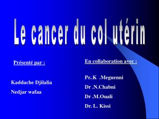 le cancer du col ut rin