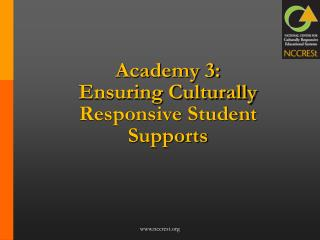 Academy 3:  Ensuring Culturally Responsive Student Supports