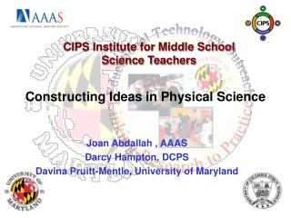 Constructing Ideas in Physical Science