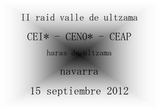 II raid valle de ultzama CEI - CEN0 - CEAP haras de ultzama navarra 15 septiembre 2012