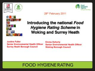 Introducing the national Food Hygiene Rating Scheme in Woking and Surrey Heath