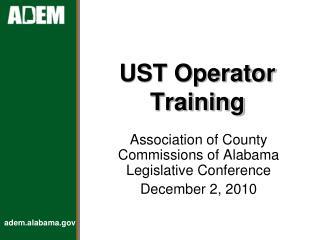 UST Operator Training