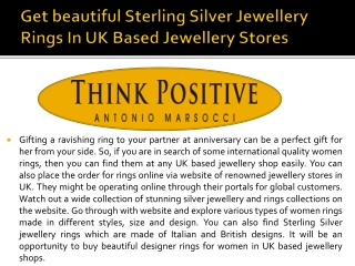 Beautiful sterling silver jewellery Rings