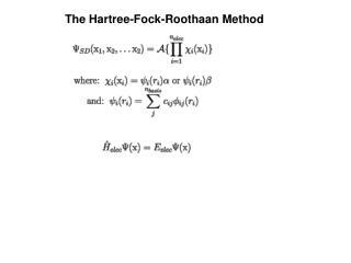 The Hartree-Fock-Roothaan Method