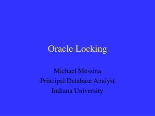 oracle locking