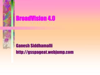 BroadVision 4.0