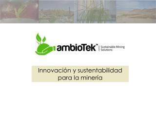 Innovaci n y sustentabilidad  para la miner a