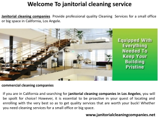 janitorial cleaning companies in Los Angeles