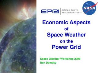 Economic Aspects  of  Space Weather  on the  Power Grid