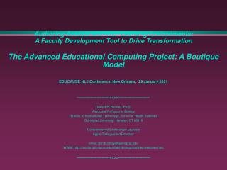 Authoring Assessment-Rich Learning Environments: A Faculty Development Tool to Drive Transformation  The Advanced Educat