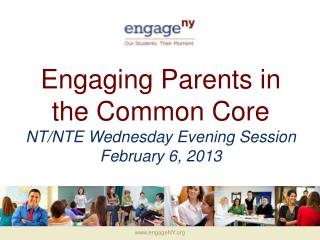 Engaging Parents in the Common Core NT