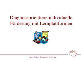 Diagnoseorientiere individuelle F rderung mit Lernplattformen