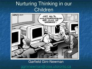 Nurturing Thinking in our Children