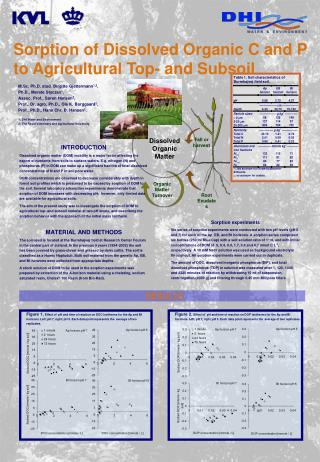 Sorption of Dissolved Organic C and P to Agricultural Top- and Subsoil
