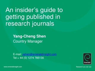 getting published in academic journals.