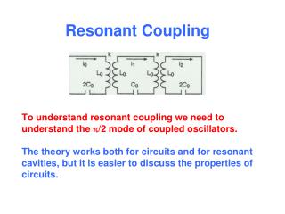 To understand resonant coupling we need to understand the p