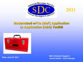 Modernized e-File MeF Application to Application A2A Toolkit