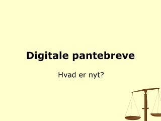 Digitale pantebreve