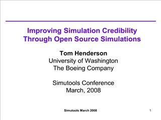 improving simulation credibility through open source simulations