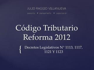 C digo Tributario Reforma 2012