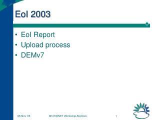 EoI 2003
