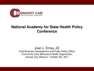 National Academy for State Health Policy Conference