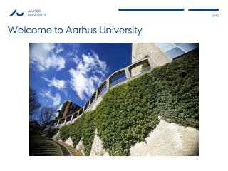 Welcome to Aarhus University