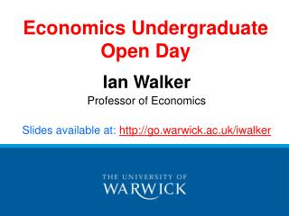 Economics Undergraduate Open Day