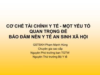 CO CH T I CH NH Y T - MT YU T QUAN TRNG    BO  M NN Y T AN SINH X  HI