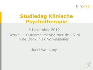Studiedag Klinische Psychotherapie