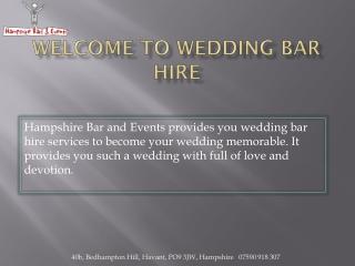 Wedding Bar Hire Hampshire