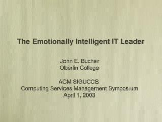 the emotionally intelligent it leader