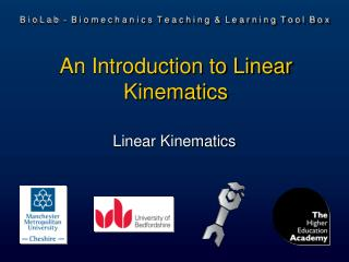An Introduction to Linear Kinematics