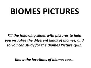 BIOMES PICTURES