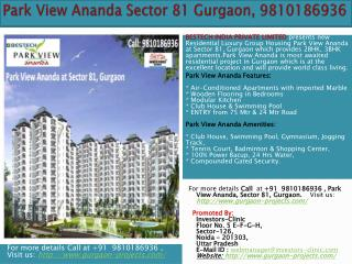 gurgaon  real  estate property, 9810186936 , park view anand