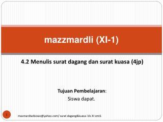 Mazzmardli XI-1