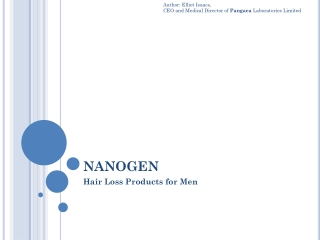 Nanogen hair loss products for men