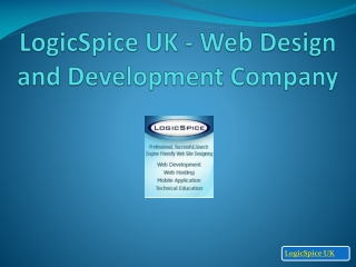 LogicSpice UK - Web design and Development Compan