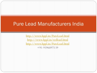Lead Alloy, Lead Alloy Manufacturers, Lead Alloy  Manufactur
