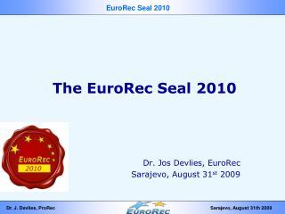 The EuroRec Seal 2010